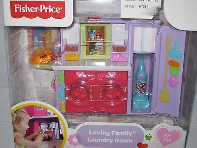 NEW Fisher Price Loving Family LAUNDRY ROOM Dollhouse Furniture WASHER VACUUM +