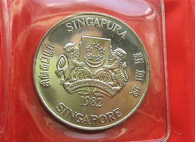 1982 Singapore 10 Dollars Year of the Dog Coin