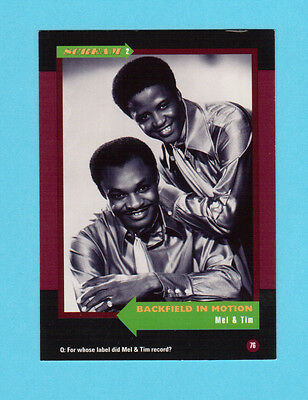 Mel & Tim  Soul Music Collector Card  Have a Look!