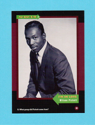 Wilson Pickett Soul Music Collector Card  Have a Look!