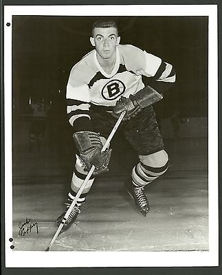 Jack Caffery Boston Bruins Vintage 8 x 10 Hockey Press Photo