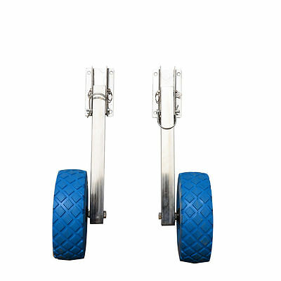 Boat launching wheels with flat free tires - stainless