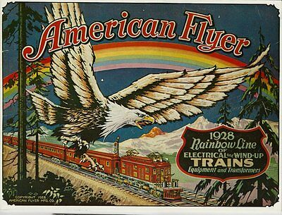 1977 Reprint of The 1928 American Flyer Trains Catalog - Great Condition