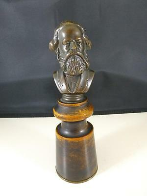 Estate Karl Marx Bronze Bust Philosopher Economist Communist Manifesto