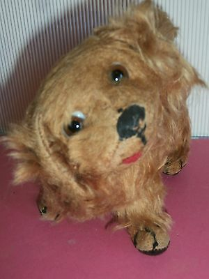 ESTATE antique  adorable PEKINGESE  DOG mohair/glass eyes PEFECT  FOR  DOLL