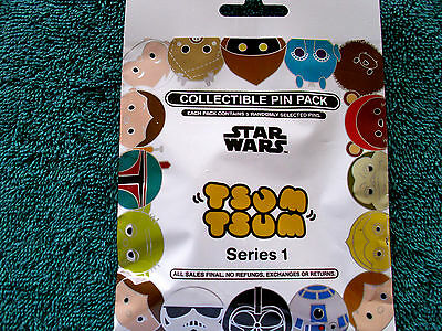 Disney* TSUM TSUM * Star Wars Series #1 * NEW 5-pin Collectible Mystery Pin Pack