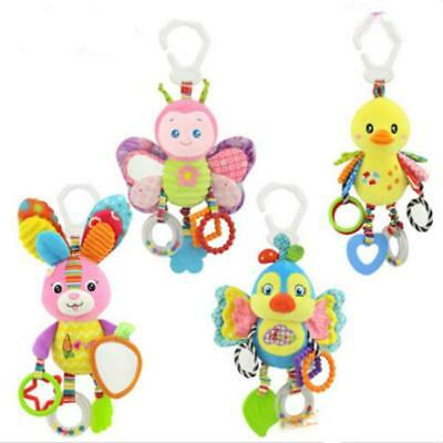 Baby Kids Infant Rattles Plush Animal Stroller Hanging Bell Toy Doll Soft Bed S