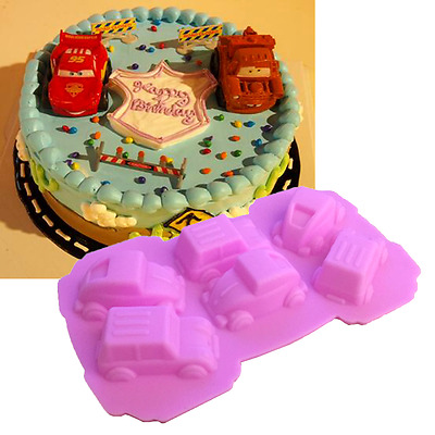 3D Car Silicone Mold Fondant Cake Chocolate Decorating Baking Soap Icing Mould
