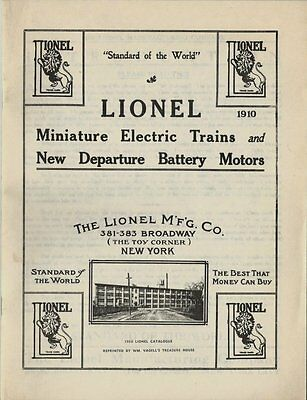 Vintage Reprint of The 1910 Lionel Toy Train Catalog - Great Condition