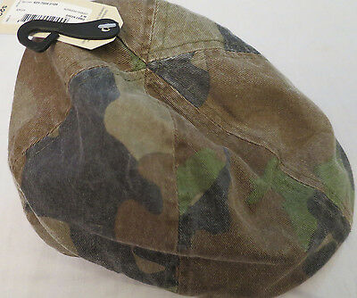 NEW Arizona Jean Co Brown/Green Camo Cotton Cabbie / Newsboy Hat Child S/M