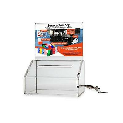Source One Heavy Duty Donation / Ballot Box with Lock and Sign Holder (6 Pack,