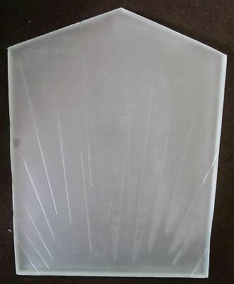 Flapper Replacement etched frosted clear glass shade for pictured art deco lamp