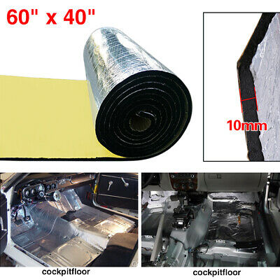 "394mil 60""x40"" Firewall Sound Deadener Car Heat Shield Insulation Deadening Mat"