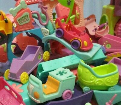 Littlest Pet Shop Lot 2 Random Car Motorcycle Jeep Bike Accessories and Gift Bag