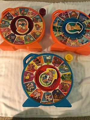 Vintage See And Say The Farmer Says Mother Goose The Lion King Lot Of 3