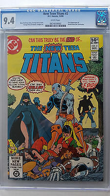 New Teen Titans #2 CGC 9.4 NM   1st Appearance Deathstroke