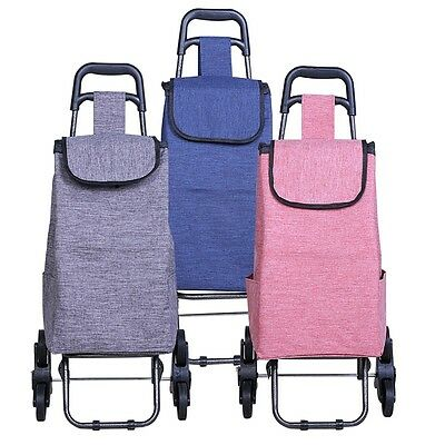 New Shopping Trolley Portable Stair Climbing Cart Folding Luggage Grocery Bag