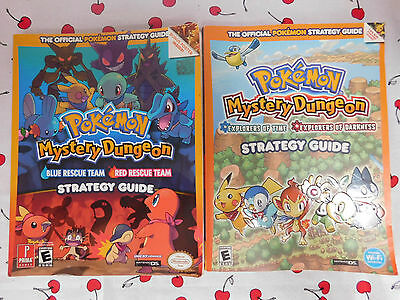 POKEMON MYSTERY DUNGEON 2 X Strategy Guides for BLUE RED & EXPLORERS