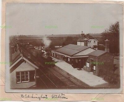 Old Photograph Bletchington Railway Station Oxon Vintage C.1907