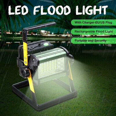 50W Rechargeable 36 LED Flood Spot Light Portable Lawn Work Flash Lamp Outdoor