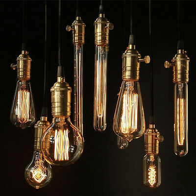 E27 E14 B22 Vintage Retro Filament Edison Tungsten Light Bulb Antique Style Lamp