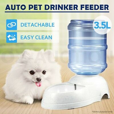 3.5L Pet Dog Cat Puppy Water Dispenser Drinking Automatic Feeder Bottle Bowl