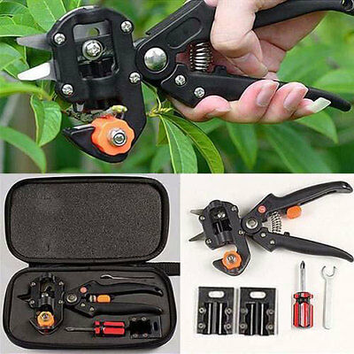 Scissor Grafting Cutting Tools Suit  Garden Fruit Tree Pro Pruning Shears+ Bag