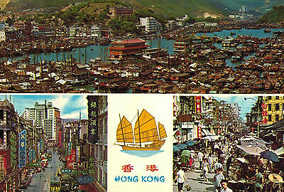 Hong Kong,China,Kowloon,Des Voeux Road,Aberdeen,Used,Rep.of China Stamp,1972