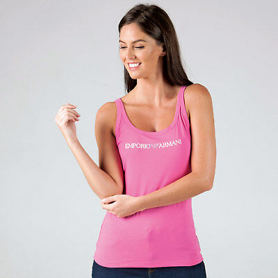 Women's Armani Logo Vest In Pink From Get The Label