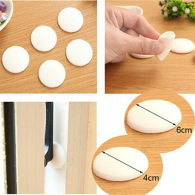 2~10x Silicone Rubber Round Wall Protector Self Adhesive Door Handle Bumper Pad