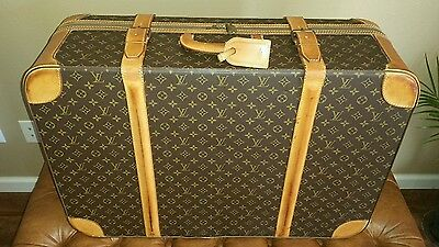 Vintage 1980s Louis Vuitton soft topped Large Full Sized suitcase or trunk mint!