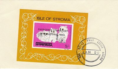 GB : 1971 STROMA Cats  miniature sheet overprinted  on cover