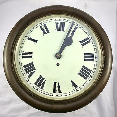 Oak Tame Side Single Fusee Wall Clock
