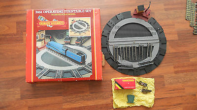 Hornby R414 Operating Turntable Set and Hornby R411 Turntable Motorising Uint
