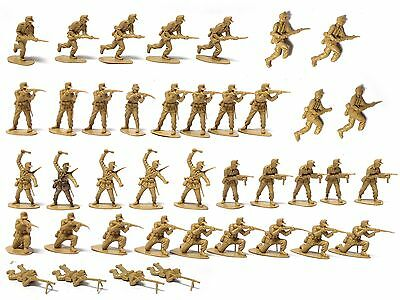 36 Airfix 1/32 German Afrika Korps Wwii Infantry Plastic Toy Soldiers