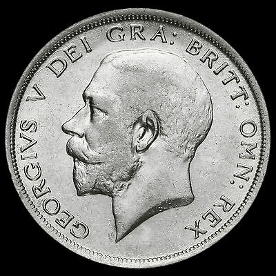 1920 George V Silver Half Crown, Scarce, VF