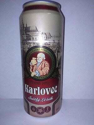 Karlovec New 500ml beer can made in Czech Republic for Russian Supermarket