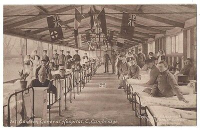 CAMBRIDGE 1st Eastern General Hospital, Wounded WW1 Military, Frith Postcard