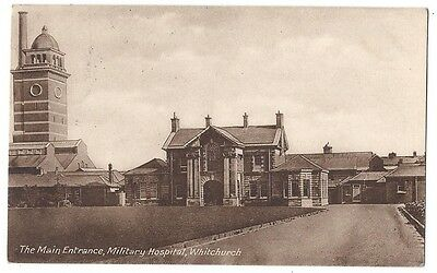 WHITCHURCH Military Hospital, Main Entrance, Old Postcard by Badger Posted c1915