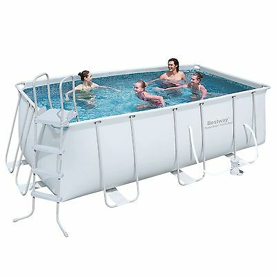 Bestway 13.5ft Power Steel™ Rectangular Frame Pool Set (8,124L) BW56456