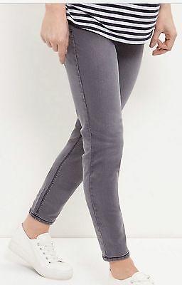 New Look Grey Maternity Pregnancy Over Bump Skinny Jeans Size 8 - 18