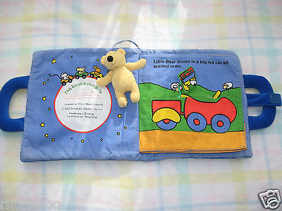 Soft Fabric Baby Book Teddy Bear Good Night Activity Plush Toy Ted Smart Printed