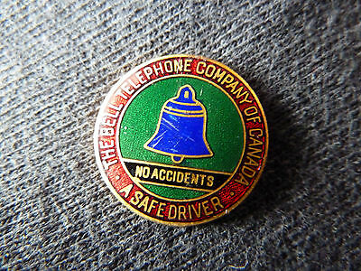 Vintage BELL Telephone Safe Driver Pin..... READ!!