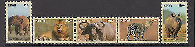 2017 Kenya Big 5 NEW ISSUE May 10 Elephant Lion Rhino complete set of 5 MNH