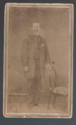 Civil War Era CDV of Union Lt  Wallace M Sanborn 12th New York Cavalry