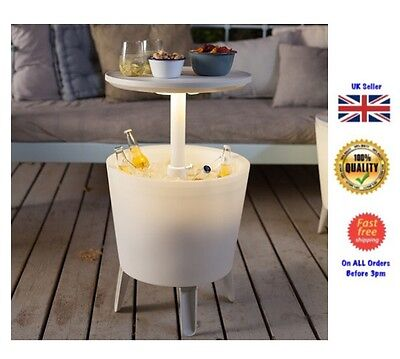 Keter 30 Litre Illuminated Coolbar Drinks Table Bar Ice Garden Cooler BBQ Party