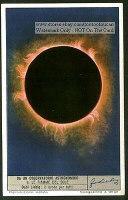 Solar Eclipse Sun  60+ Y/O Astronomy Trade Ad Card