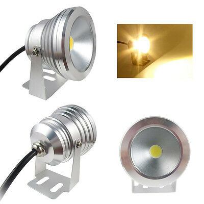New 10W 12V Warm/Cool White LED Underwater Pond Pool Spot Light Waterproof IP68