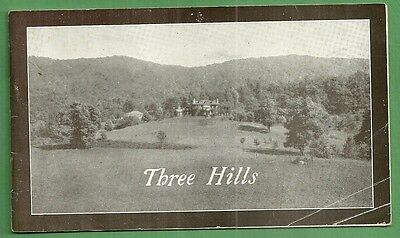 1920 Illustrated Advertising Booklet THREE HILLS WARM SPRINGS VIRGINIA