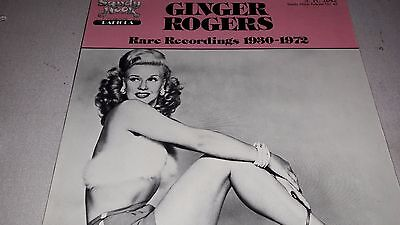 Ginger Rogers ‎Rare Recordings 1930-1972 Vinyl LP Sandy Hook SH2042 21/10